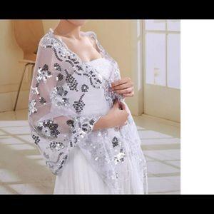 New beautiful sequin embellished shawl
